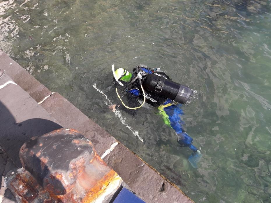 Rilievi subacquei Villa Rosbery Napoli