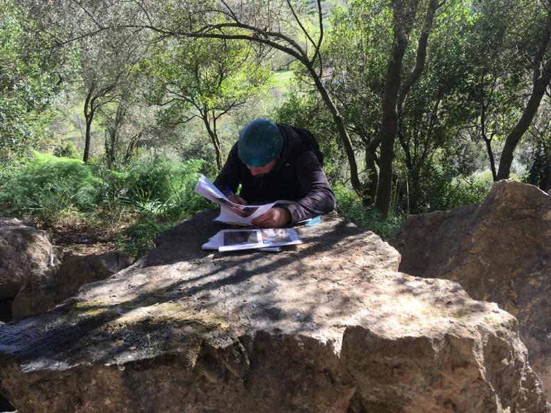 Rilievo ammasso roccioso Piana di Monte Verna